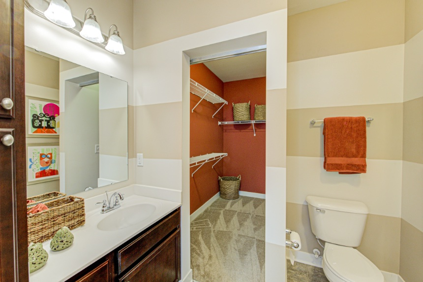 Model home bathroom in Fishers