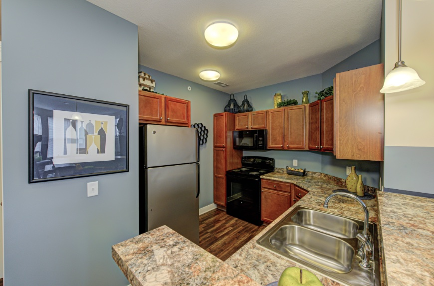 Open Kitchen with Storage in Fishers.
