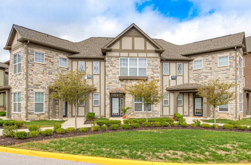 Fishers townhomes with separate entrances.