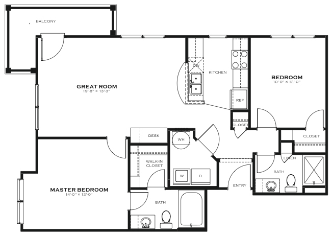 Kensington 2 Bedroom Floor Plan The District At Saxony Apartment Homes,Autocad 3d Home Design Software Free Download