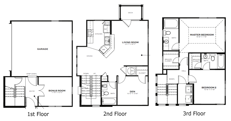 Utopia 3 Bedroom Townhome Floor Plan   The District at ... on carinthia house plan, dresden house plan, luxembourg house plan,