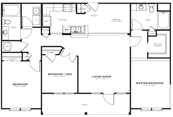 Soho 3 Bedroom Floor Plan The District At Saxony Apartment Homes