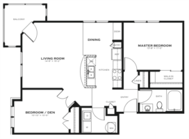 Breezy Point 2 Bedroom Floor Plan The District At Saxony